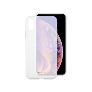 EPICO SILICONE CASE for iPhone X/XS - transparent white