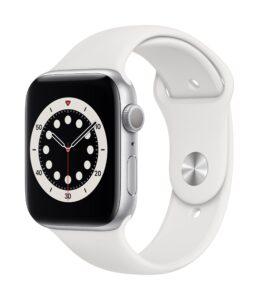 Apple Watch Series 6 44mm GPS Aluminum, Silver (kasutatud, seisukord A)